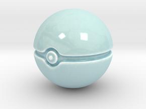 Pokeball  in Gloss Celadon Green Porcelain