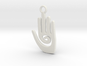 Healing Hand in White Natural Versatile Plastic