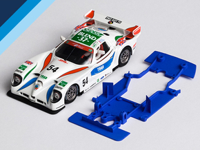 1/32 Fly Panoz GTR-1 Chassis for slot.it pod in White Natural Versatile Plastic
