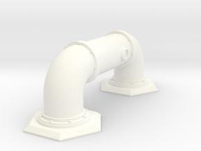 Pipe Barricade Hex in White Processed Versatile Plastic