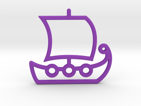 Ship No.1 in Purple Processed Versatile Plastic