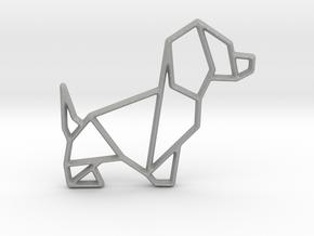 Origami Dog No.2 in Aluminum