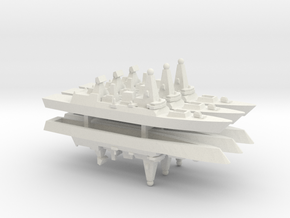 Type 45 DDG x 6, 1/1800 in White Natural Versatile Plastic