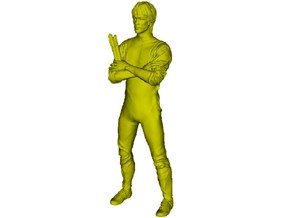 """1/15 scale Bruce Lee """"Game of Death"""" figure in Frosted Ultra Detail"""