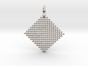 Squares Pendant in Rhodium Plated Brass