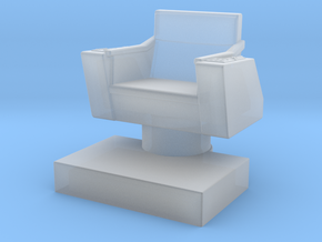 Game piece captain's chair in Smooth Fine Detail Plastic