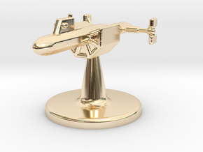 Game piece DY-100 in 14k Gold Plated Brass