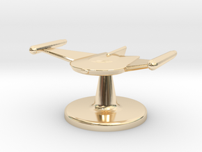 Game piece Romulan Bird-of-Prey in 14K Yellow Gold