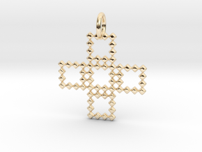 Square Pendant No.3  in 14K Yellow Gold