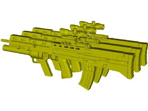 1/18 scale BAE Systems L-85A2 rifles x 3 in Smooth Fine Detail Plastic