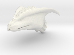 Dragon Head pendant in White Natural Versatile Plastic