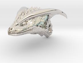 Dragon Head pendant in Rhodium Plated Brass