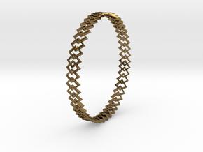 Square Bracelet in Natural Bronze
