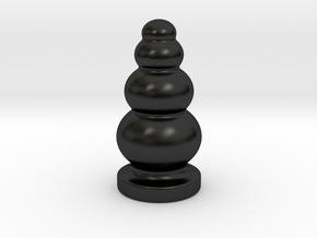 Porcelain Ball Stack Plug in Matte Black Porcelain