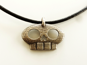 Pirate Gang Pendant in Polished Nickel Steel