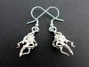 Nodulated Root Earrings - Science Jewelry in Polished Silver