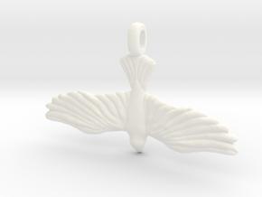 DOVE Symbol Jewelry Pendant in White Processed Versatile Plastic