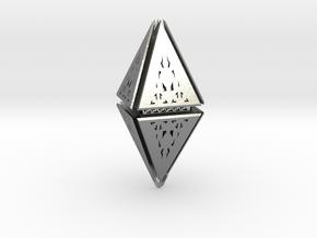 Diamond  in Natural Silver