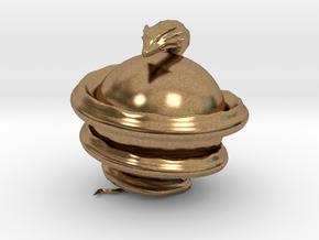 World Serpent in Natural Brass
