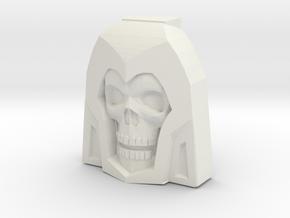 Skeletor Faceplate (Titans Return) in White Strong & Flexible