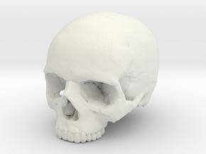 Skull    30mm width in White Natural Versatile Plastic