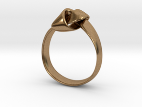 Knot Ring - Size 8 in Natural Brass