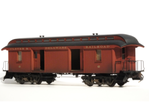 "46' Wood Baggage Car U & D RR S Scale 1/64 3/16"" in Smooth Fine Detail Plastic"