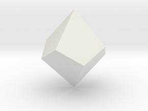 Square Trapezohedron in White Natural Versatile Plastic