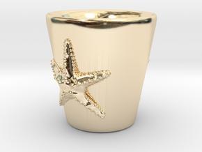 Starfish Shot Glass in 14K Yellow Gold