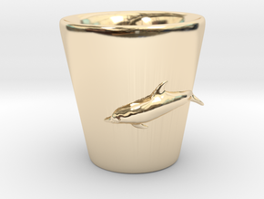 Dolphin Shot Glass in 14K Yellow Gold