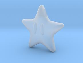 Power Star Mario Pendant in Smooth Fine Detail Plastic