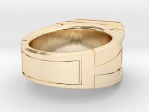 Size 10 Green Lantern Ring in 14K Yellow Gold