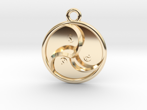 """Trinfinity Pendant 1"""" in 14k Gold Plated Brass"""