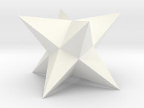 Stellated Square Trapezohedron in White Processed Versatile Plastic
