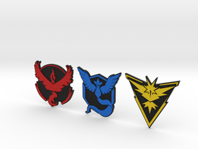 Pokemon Go - All Team Badges 2 in Full Color Sandstone