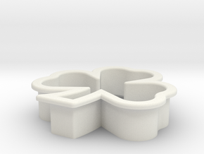 Clover Cookie Cutter in White Strong & Flexible