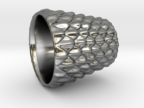 Dragon Scale Shot Glass in Polished Silver