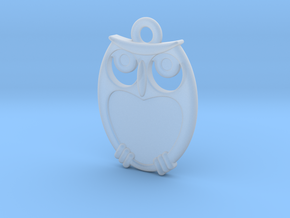 small owl pendant in Smooth Fine Detail Plastic