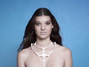 Necklace in White Natural Versatile Plastic