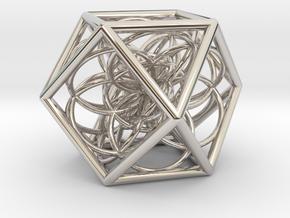 Flower Cube in Platinum