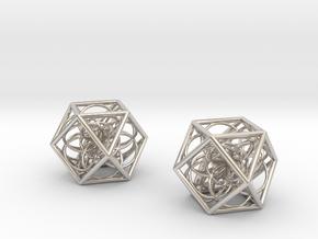 flower cube03 x2 p in Platinum