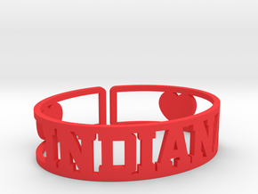 Indiana Cuff in Red Strong & Flexible Polished