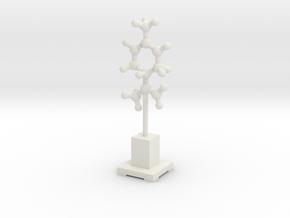 Molecule Statuette in White Natural Versatile Plastic