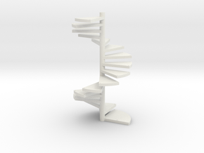 Wendeltreppe (16 Elemente+kopf) Kein Loch in White Strong & Flexible