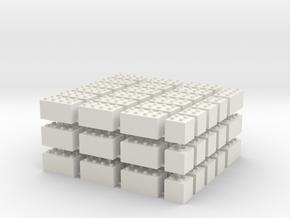1/87 HO Bausteine fuer Schuettgutboxen, 57+12 in White Natural Versatile Plastic