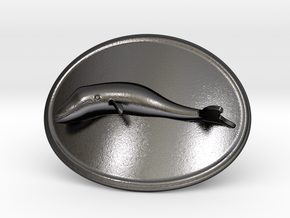 Whale Belt Buckle in Polished and Bronzed Black Steel