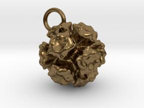 Adenovirus Pendant 15mm  in Natural Bronze