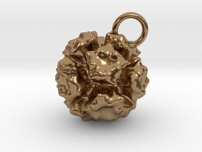 Adenovirus Pendant 20mm diameter in Natural Brass
