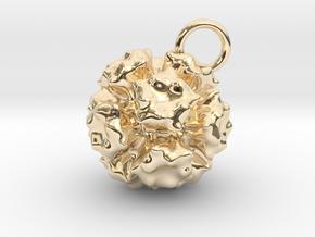 Adenovirus Pendant 20mm diameter in 14K Yellow Gold