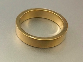 LO Wedding Band, Custom: Size Width Thickness Edge in 18k Gold